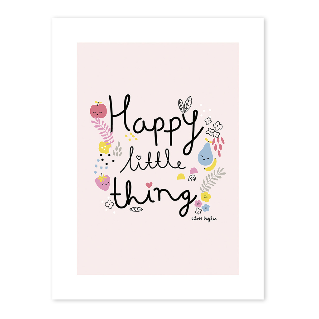 Happy Little Things Poster Tutti Frutti Lilipinso Lili-P0199 1024X1024