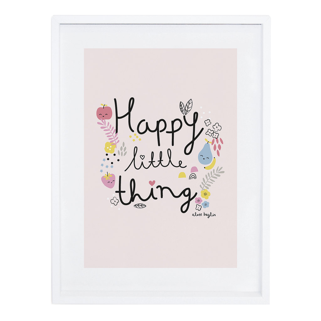 Happy Little Things Poster Tutti Frutti Lilipinso Met Lijst Lili-P0199 1024X1024