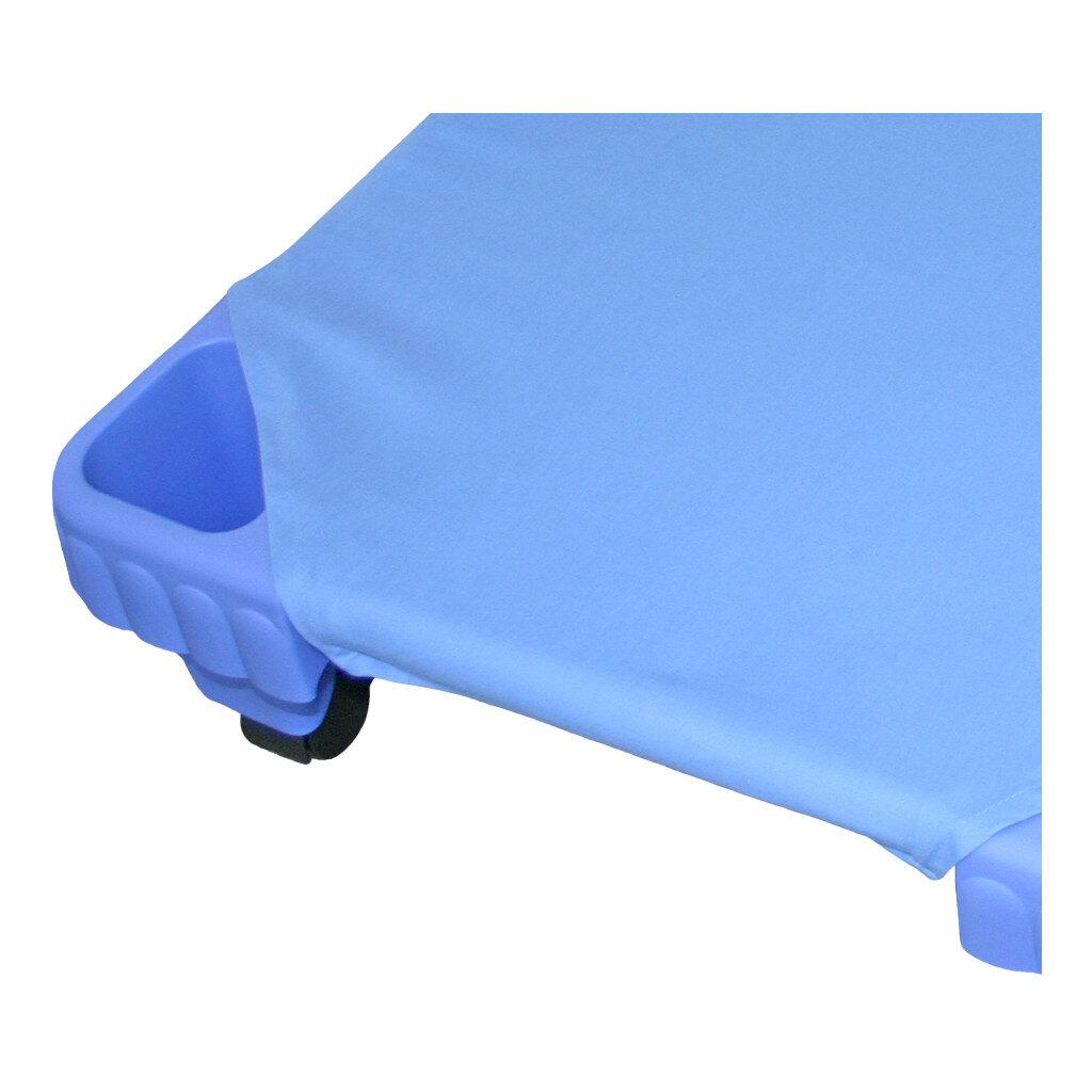 Hoeslaken Blauw Voor Kinder Ligbed 140 Cm Binnen Buiten Rusten Snooze Veldbed Camping Edup-110023