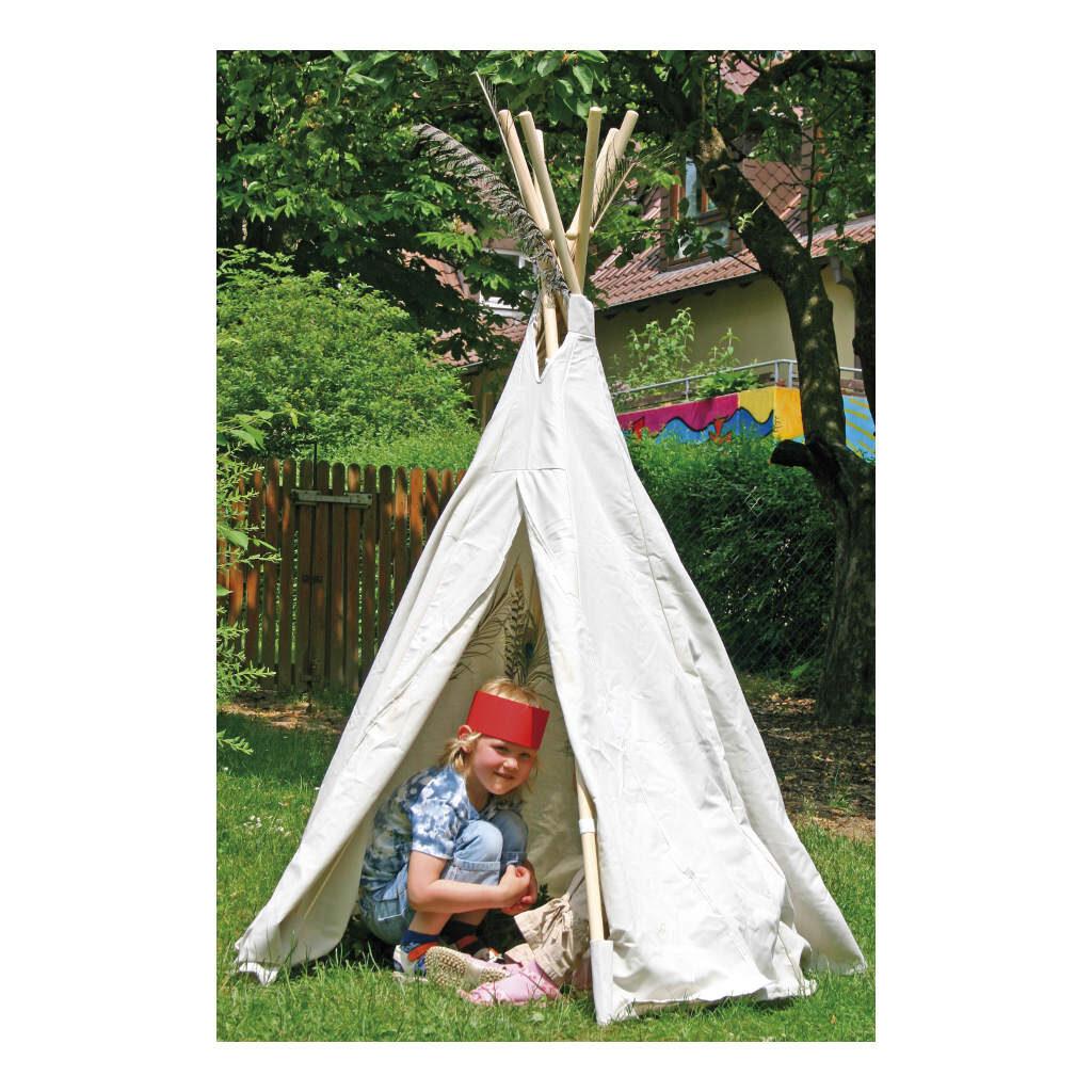 Indianentent Wit 160 Cm Hoog Edup-110069