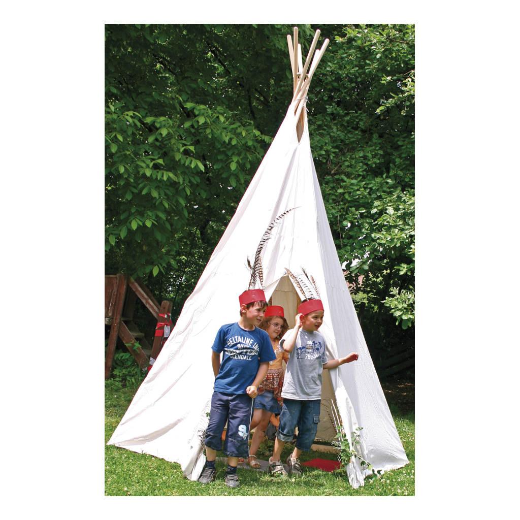 Indianentent Wit Groot 325 Cm Hoog Wigwam Teepee Tipi Speeltent Edup-110070