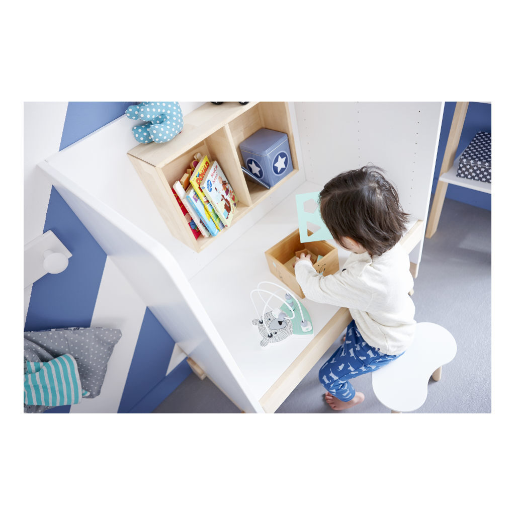 Juniorbed 70X140 Cm Lifetime Kidsroom Peuterbed Commode Bureau Life-7032B