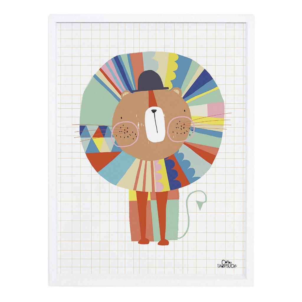 Lion Poster Imaginarium Lilipinso Met Lijst Lili-P0187 1024X1024