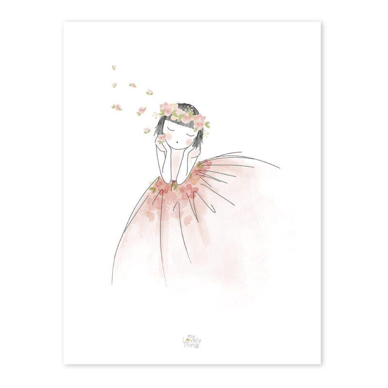 Reveries Poster Rosae Lilipinso Verlegen Meisje Prinses QIDDIE.com lili-P0216-zl