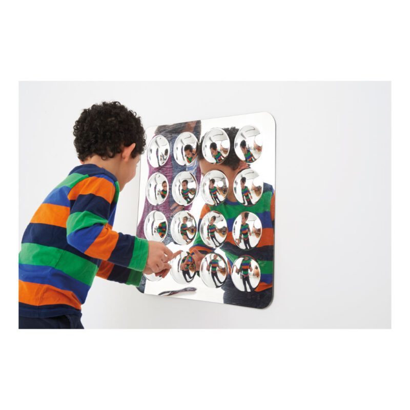 Spiegel 16 Bollen Klein 49 X 49 X 4 Cm Muurspiegel Binnen Buiten Kunstof Edup-110301