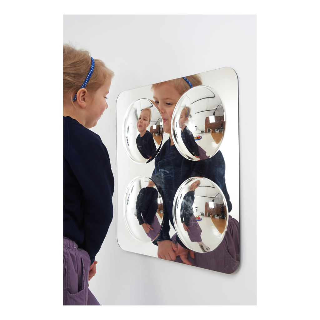 Spiegel 4 Bollen Klein 49 X 49 X 4 Cm Muurspiegel Binnen Buiten Kunstof Edup-110304