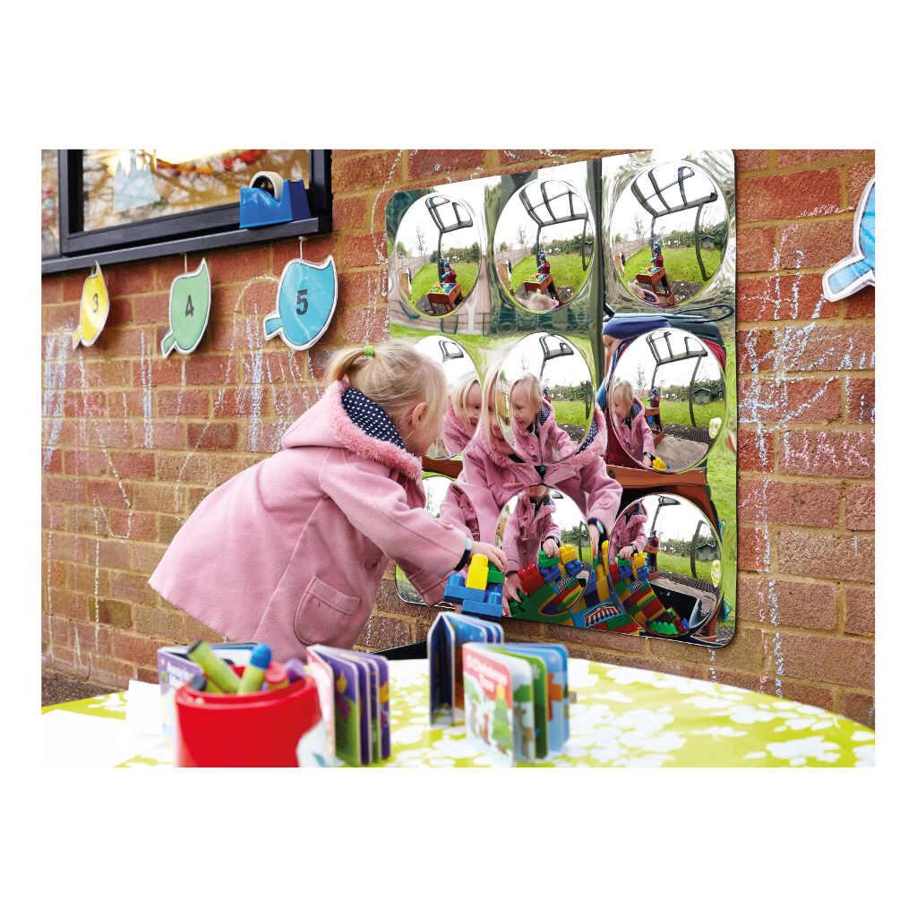 Spiegel 9 Bollen Groot 78 X 78 X 2,5 Cm Muurspiegel Binnen Buiten Kunstof Edup-110300