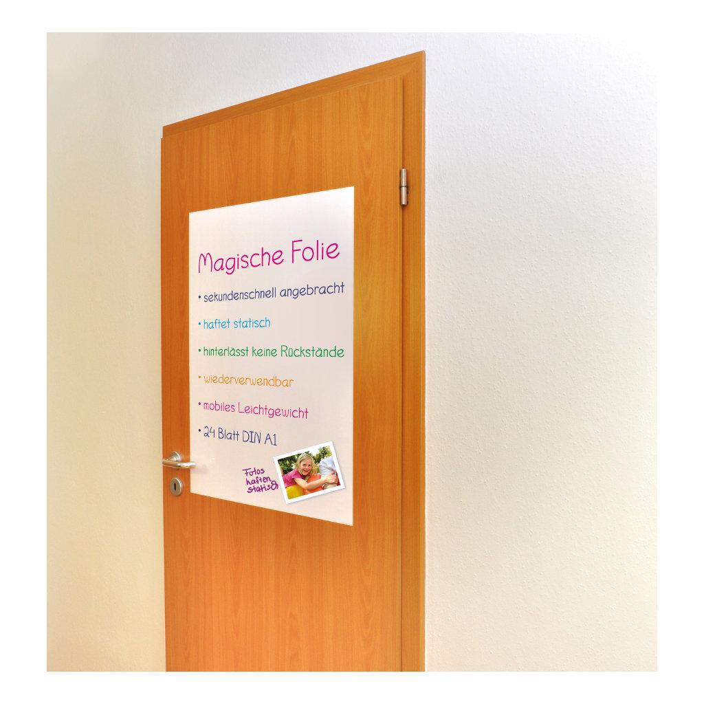 Statische Whiteboard Folie Din A1 Aankondiging Deur Raam Edup-110172