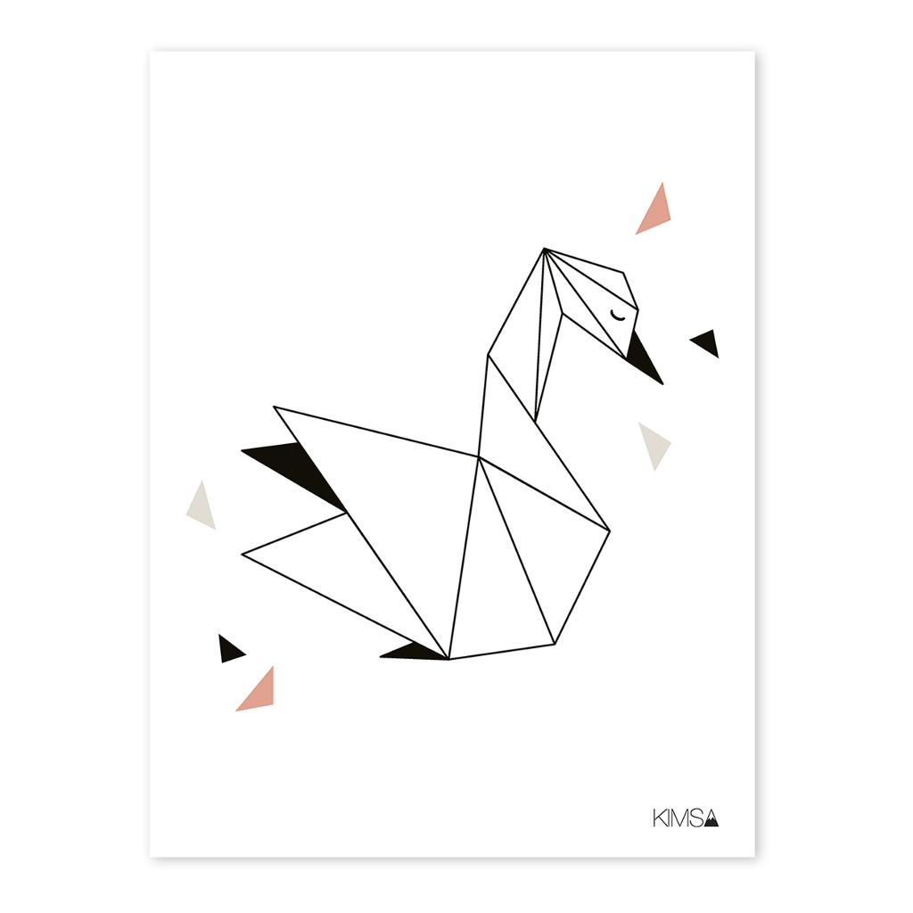 Swan Poster Origami Play Lilipinso Lili-P0184 1024X1024