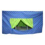 Tafeltent Blauw Met Groene Stippen 80 X 120 X 60 Cm Edup-110054