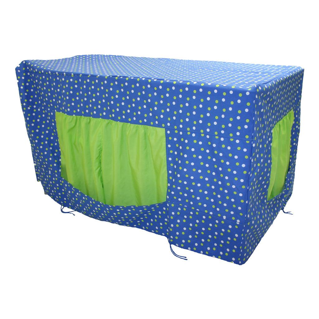 tafeltent blauw met groene stippen 80 x 120 x 60 cm kopen qiddie. Black Bedroom Furniture Sets. Home Design Ideas