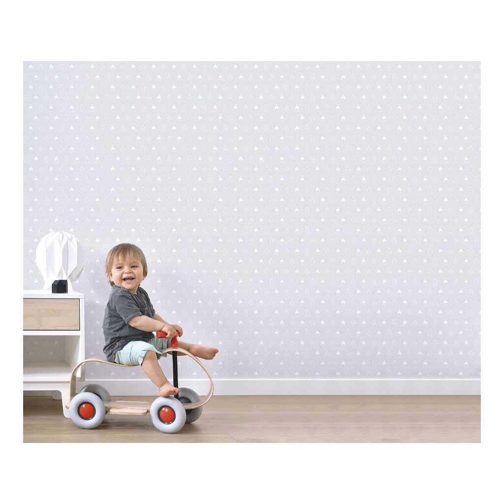 Acorn Background Colour Light Grey Behang Into The Woods Lilipinso Rustgevend Een Tonig Lili-H0330