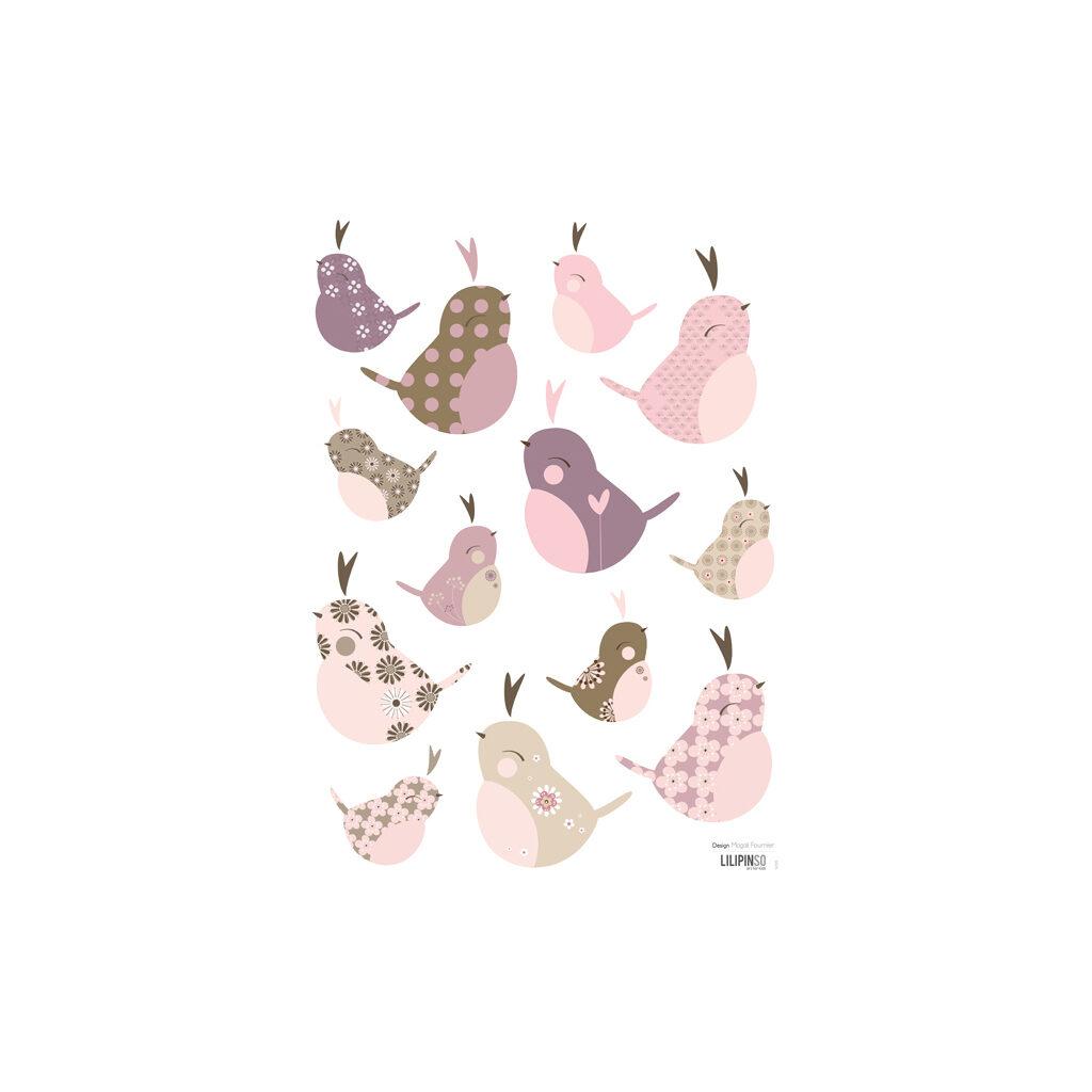 Baby Birds Muursticker A3 Lilipinso Lili-S0135