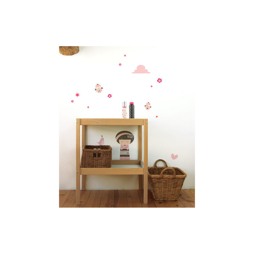 Baby Birds Muursticker A3 Lilipinso Sfeer Kinderkamer Lili-S0135