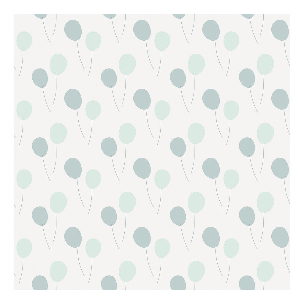 Balloons Green Blue Behang Lilipinso Motief Patroon Kleur Lili-H0420