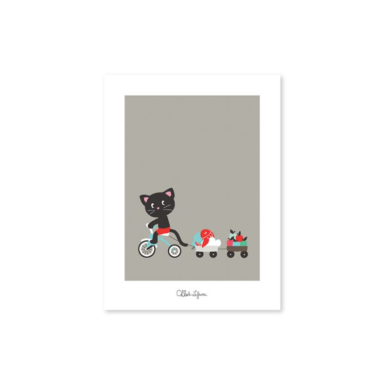 Bicycle Ride Poster Lilipinso Zonder Lijst Lili-P0119