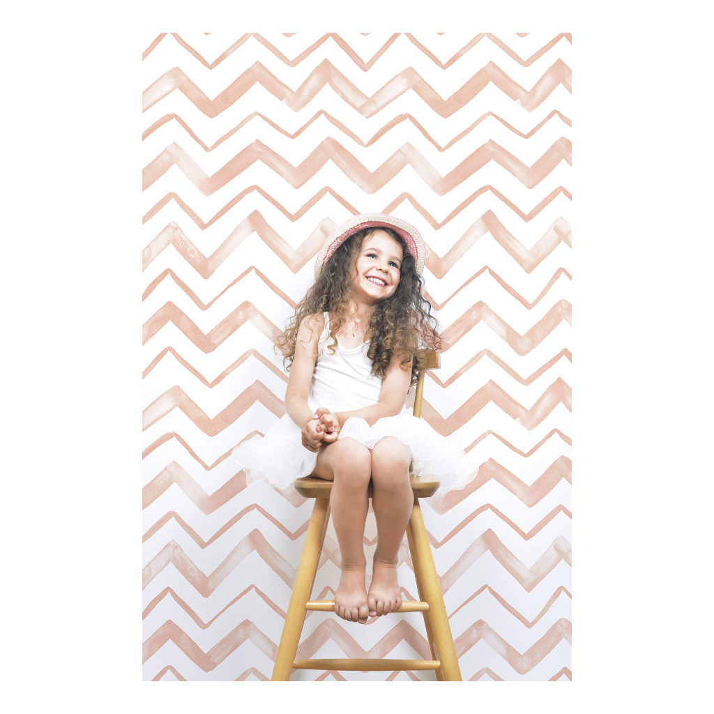 Chevron Coral Behang Lilipinso Zigzag Oud Roze Lili-H0410
