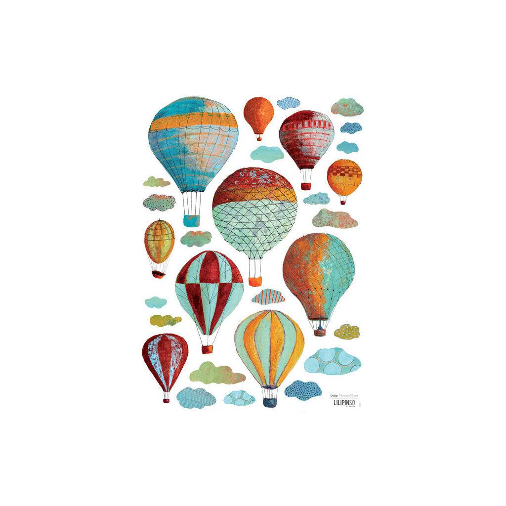 Clouds & Montgolfiers Muursticker A3 Lilipinso Lili-S0582