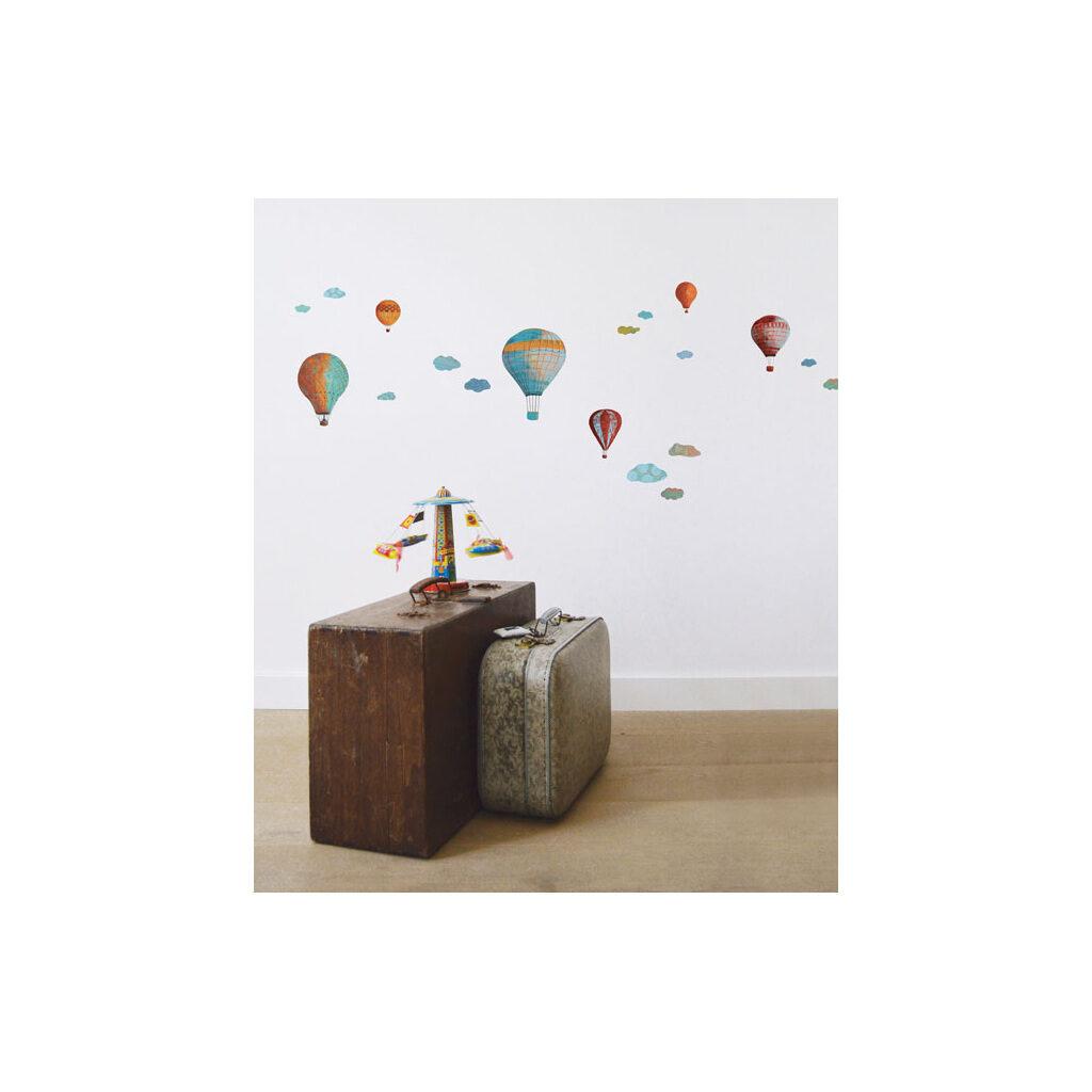 Clouds & Montgolfiers Muursticker A3 Lilipinso Sfeer Kinderkamer Lili-S0582