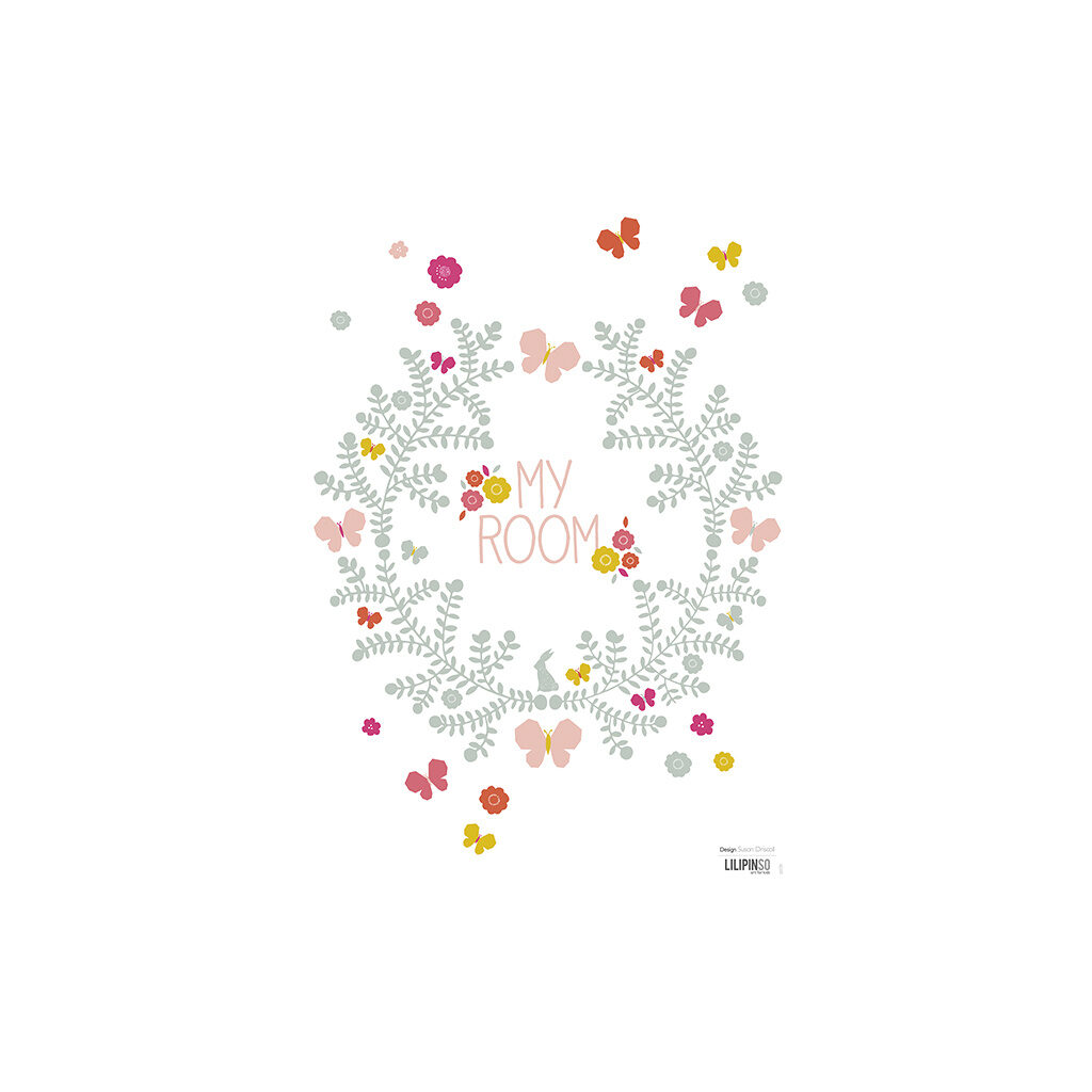 Crown Of Flowers Muursticker A3 Lilipinso Lili-S0739