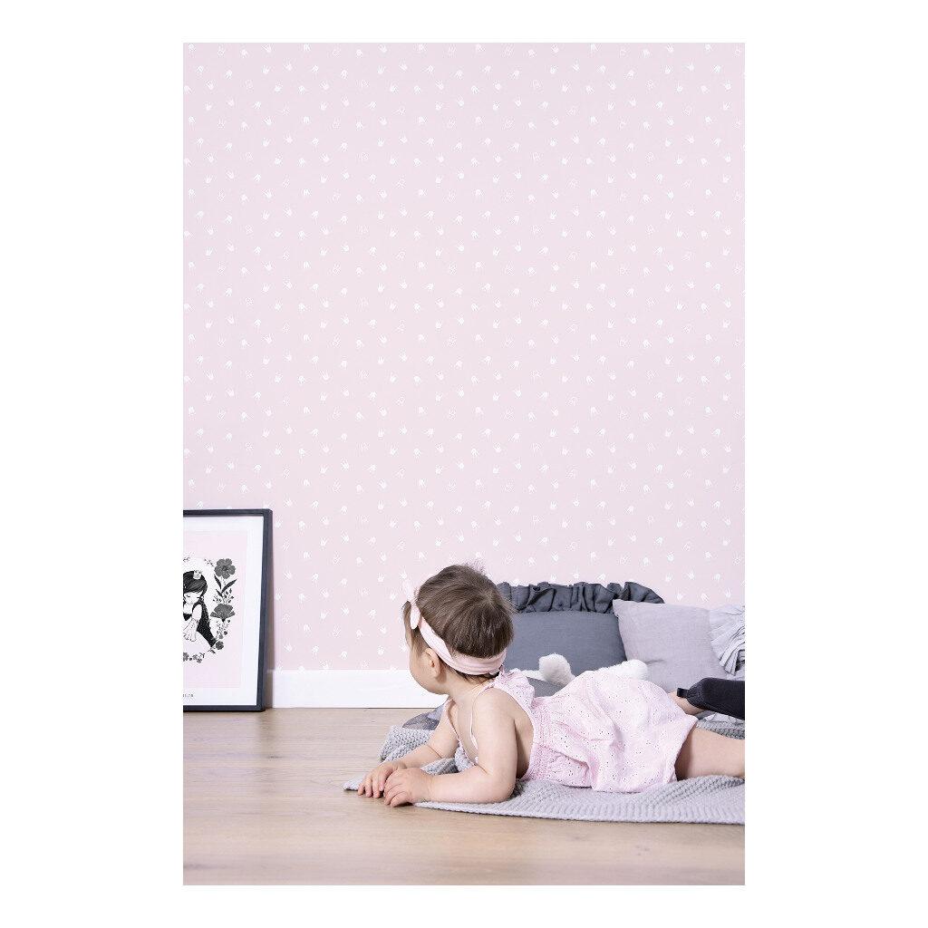Crown Pink Behang Little Princess Lilipinso Babykamer Kinderkamer Lili-H0335