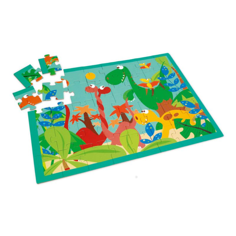 Dino Wereld Puzzel 40 Stukjes Legpuzzel Scratch Scra-6181091