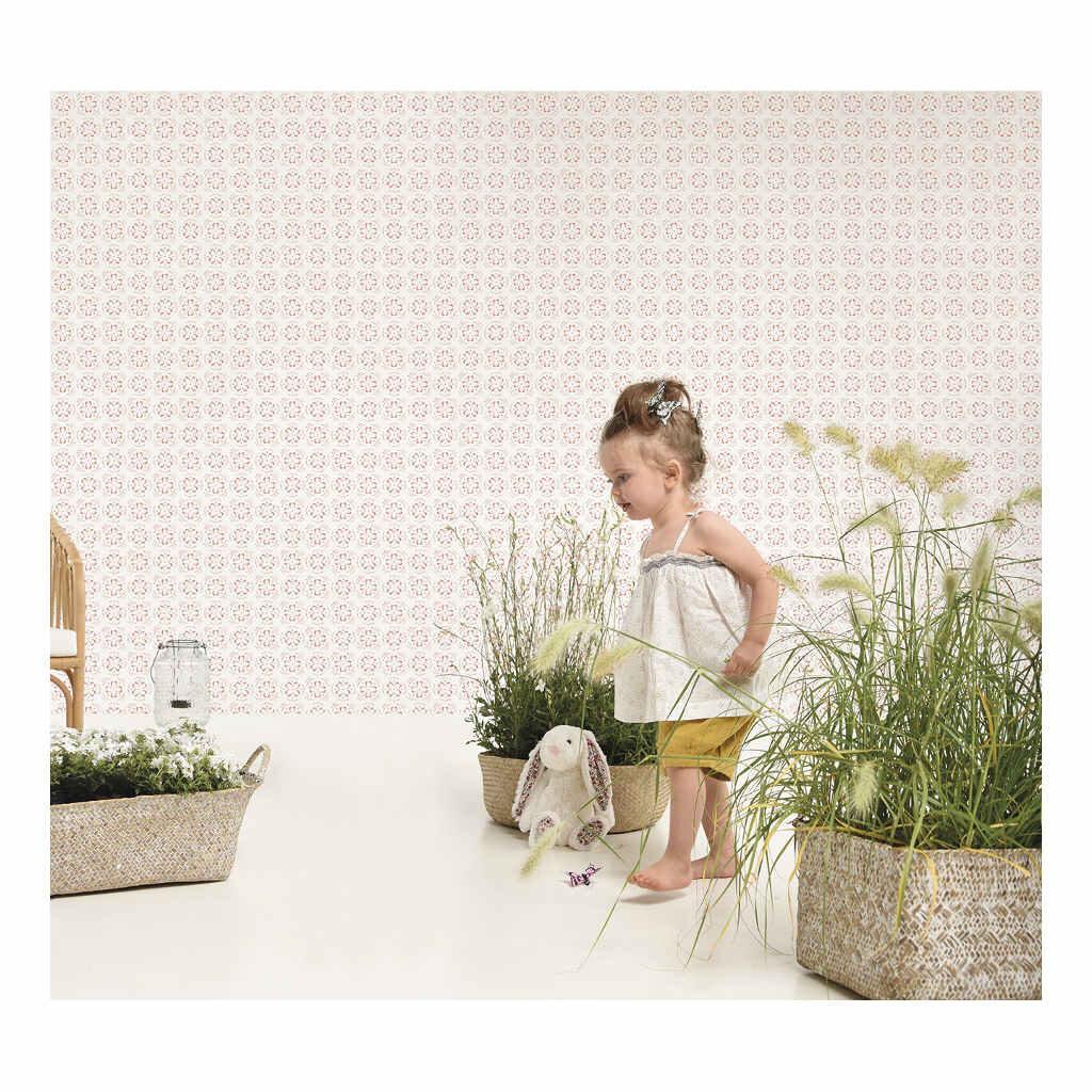 Flowers Like Tiles Behang Meadow Treasure Lilipinso Bloemen Kinderkamer Huiskamer Hal Lili-H0343