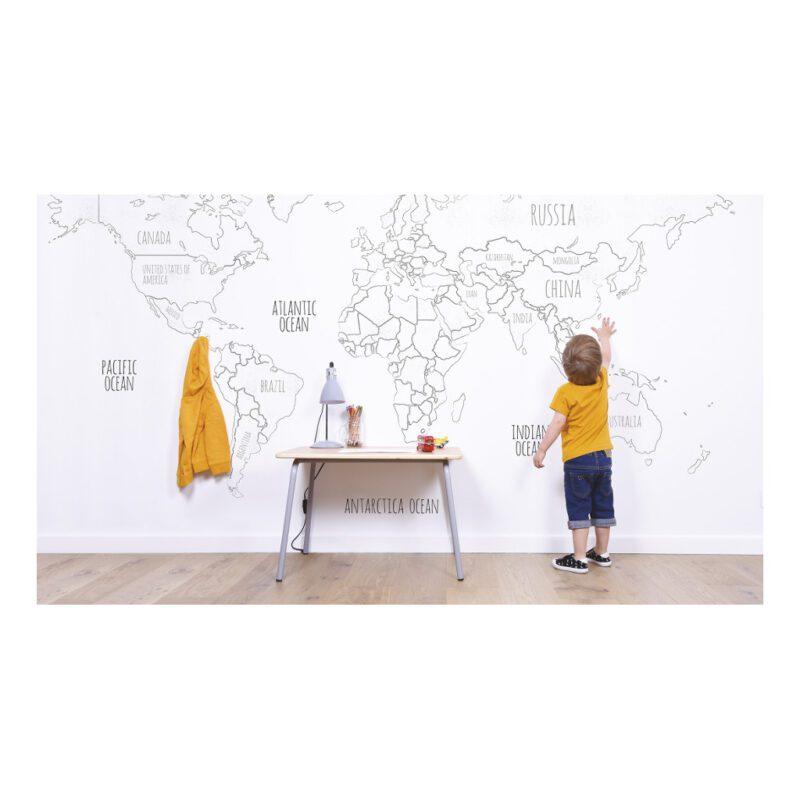 Globe Behang Mini Travelers Lilipinso Ontdek Kinderkamer Werkkamer Huiskamer Hal Lili-H0366