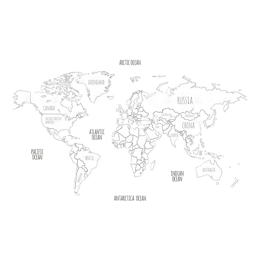 Globe Behang Mini Travelers Lilipinso Wereld Kaart Lili-H0366