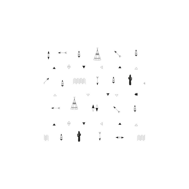 Indian Spirit Behang Lilipinso Motief Patroon Kleur Lili-H0401