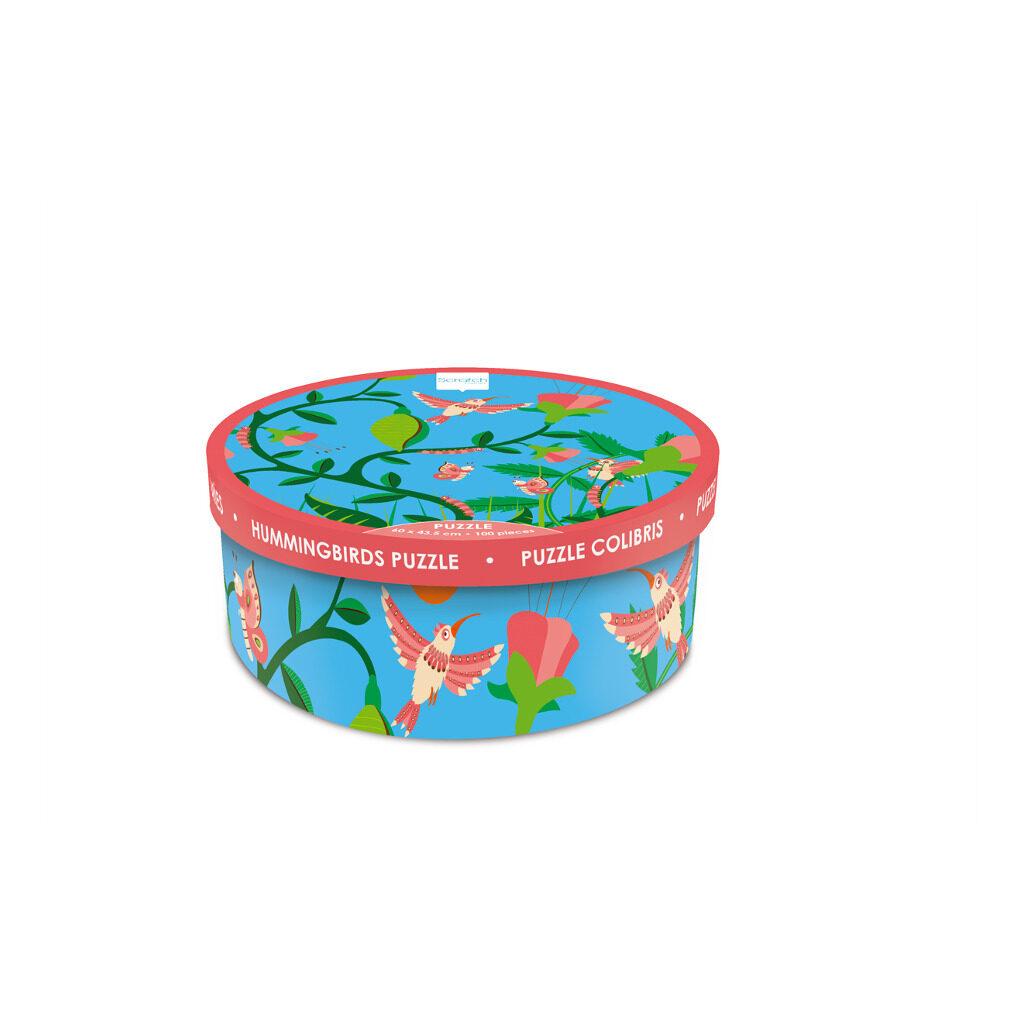 Kolibrie Puzzel 200 Stukjes Scratch Doos Verpakking Trommel Scra-6181093