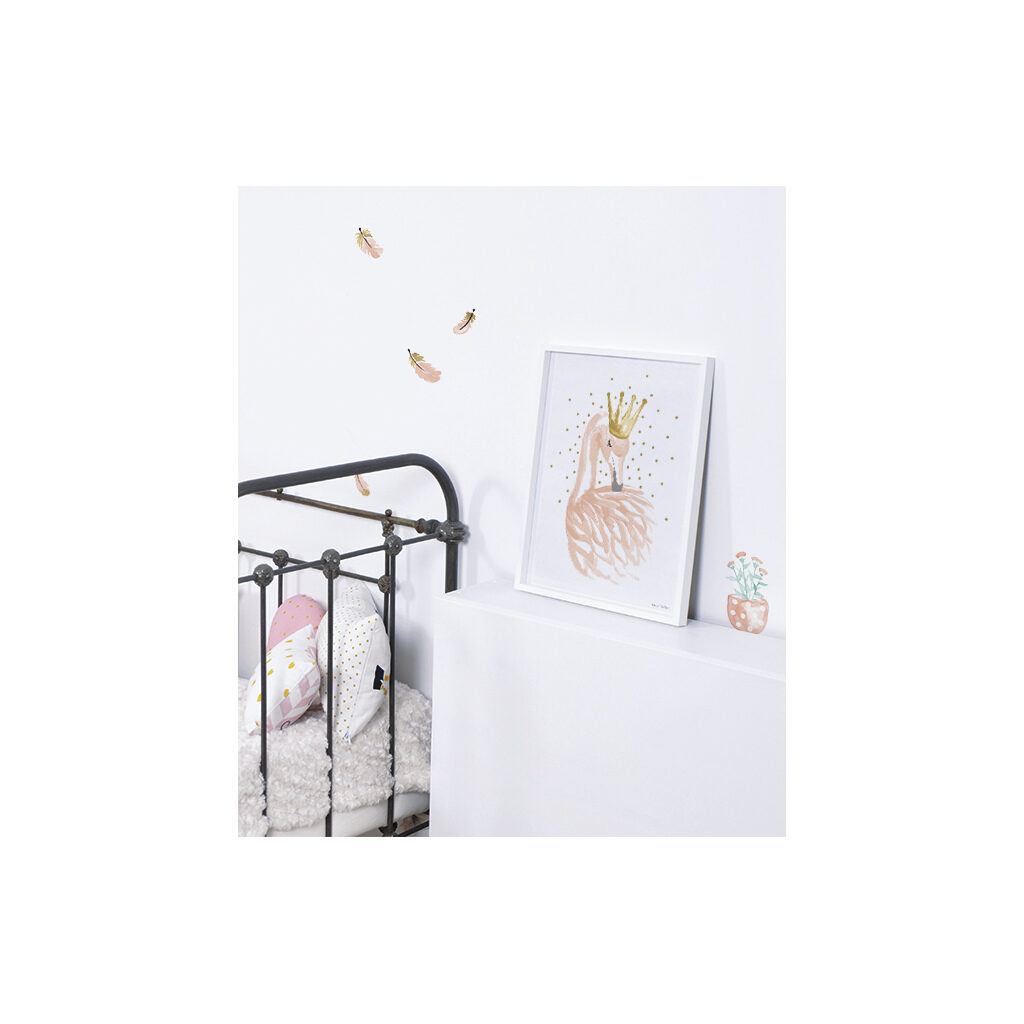 Little Flower Pots Muursticker A3 Flamingo Lilipinso Decoratie Muur Lili-S1042