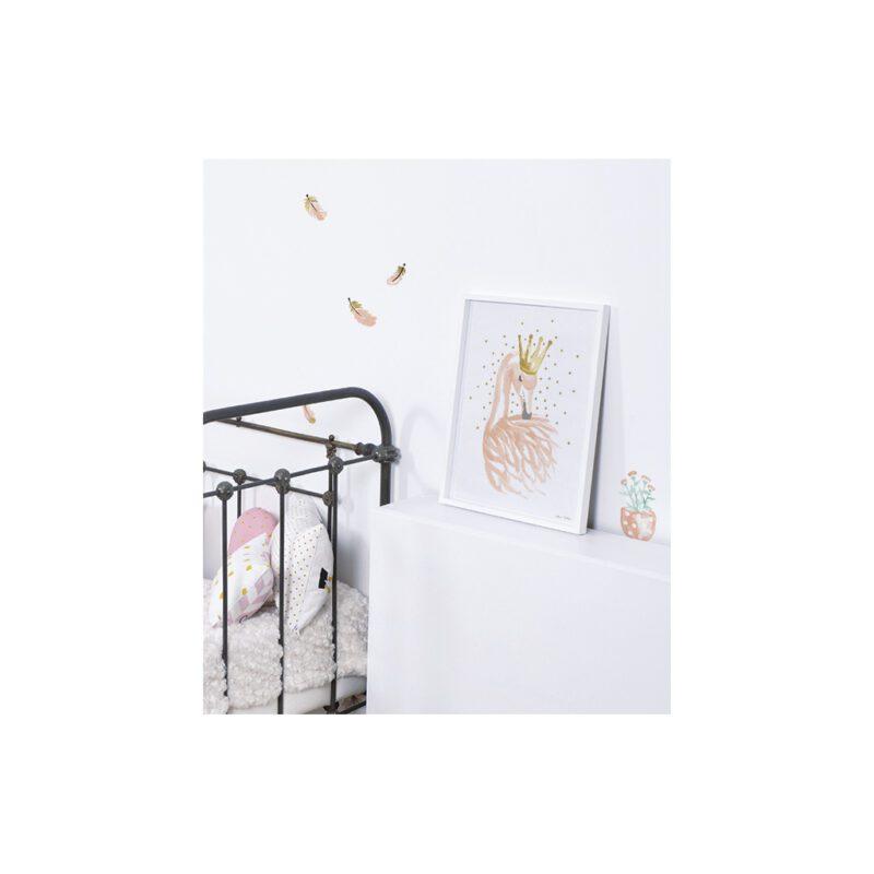 Little Flower Pots Muursticker A3 Flamingo Lilipinso Decoratie Muur Lili-S1042