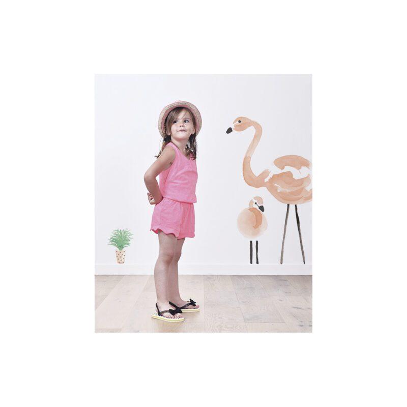 Little Flower Pots Muursticker A3 Flamingo Lilipinso Sfeer Combineren Lili-S1042