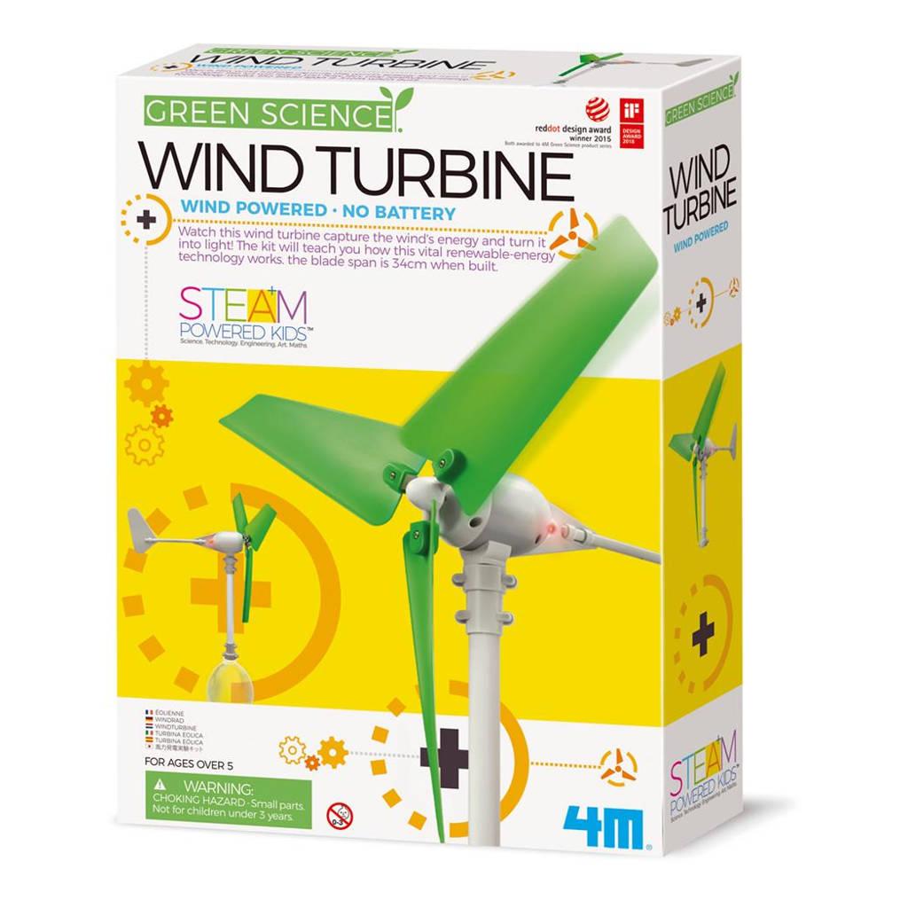 Maak Je Eigen Windturbine 4M Speelgoed Ontdekken Wetenschap Natuurkunde Techniek QIDDIE.com 4msp-5603378 1024x1024