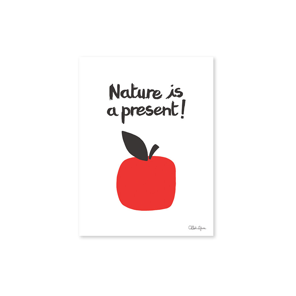 Nature Is A Present Apples Poster Lilipinso Zonder Lijst Lili-P0120