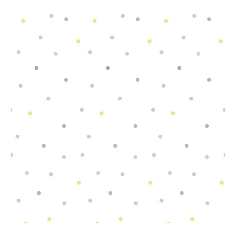 Polka Dots Multicolour Behang Lilipinso Motief Patroon Kleur Lili-H0403