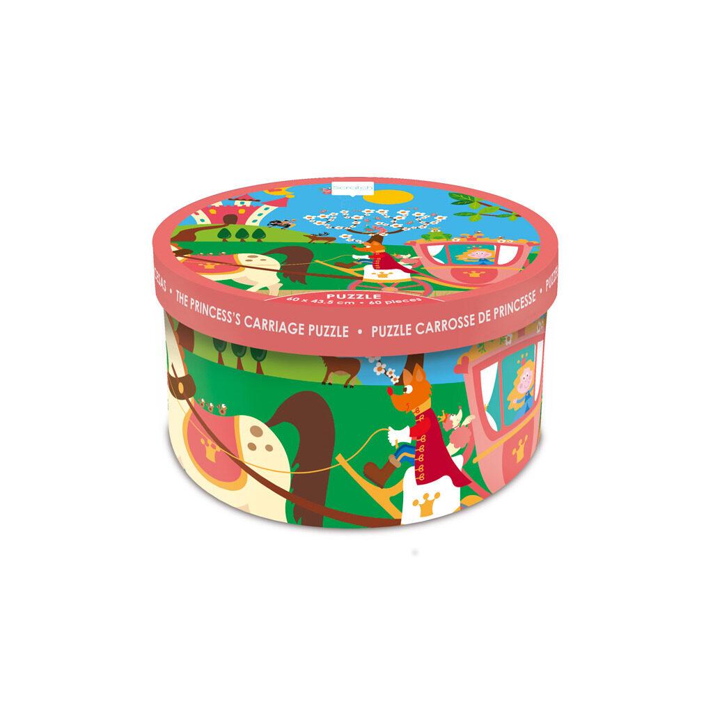Prinsessenkoets Puzzel 60 Stukjes Doos Verpakking Trommel Scratch Scra-6181090.jpg