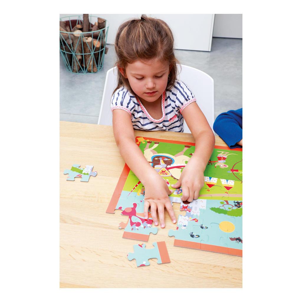 Riddergevecht Puzzel Samen Alleen Puzzelen Kleuter Scratch Scra-6181089
