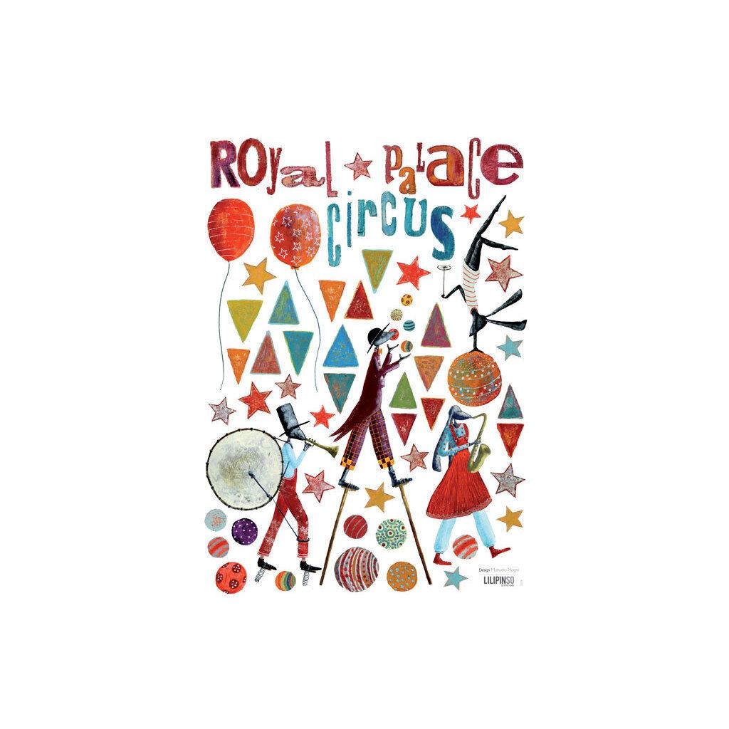 Royal Circus Musicians Muursticker A3 Lilipinso Lili-S0578