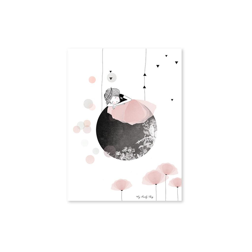 Siesta On The Moon Poster Lilipinso Zonder Lijst Lili-P0135