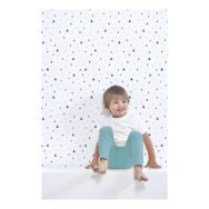 Small Triangles Black And Mint Behang Lilipinso Lili-H0414