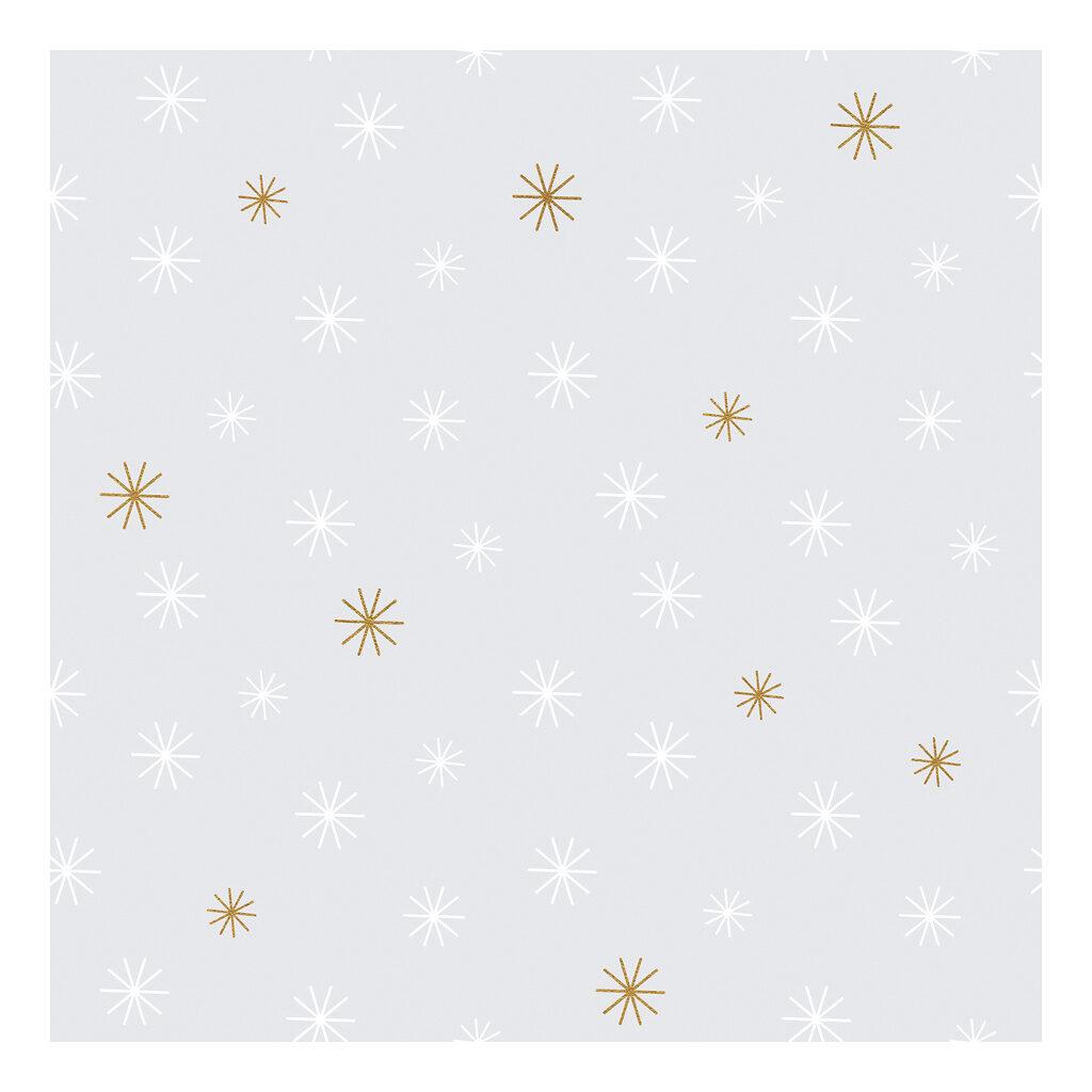 Snow Flakes Behang Nordic Lilipinso Sneeuw Vlokken Wit Goud Lili-H0341