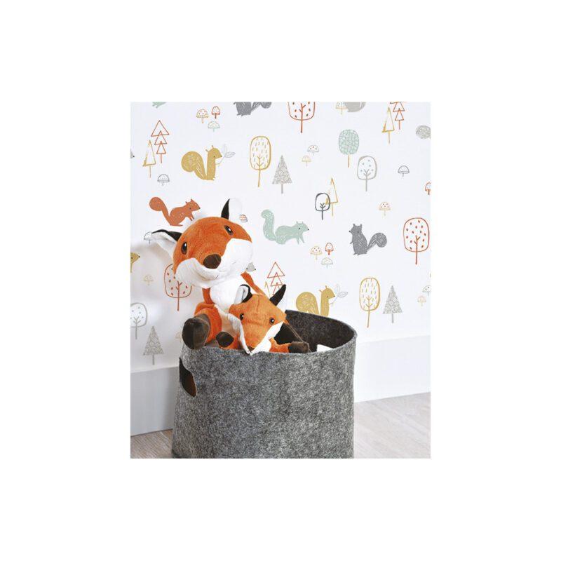 Squirrel Wood Behang Lilipinso Eekhoorn Patroon Lili-H0396
