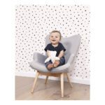 Stars And Polka Dots Black Behang Dreamy Lilipinso Sterren Zwart Wit Lili-H0334