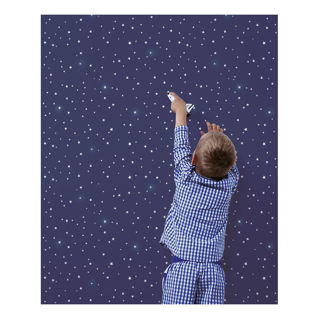 Stars At Night Behang Fly Me To The Moon Lilipinso Kinderkamer Jongens Meisjes Lili-H0367
