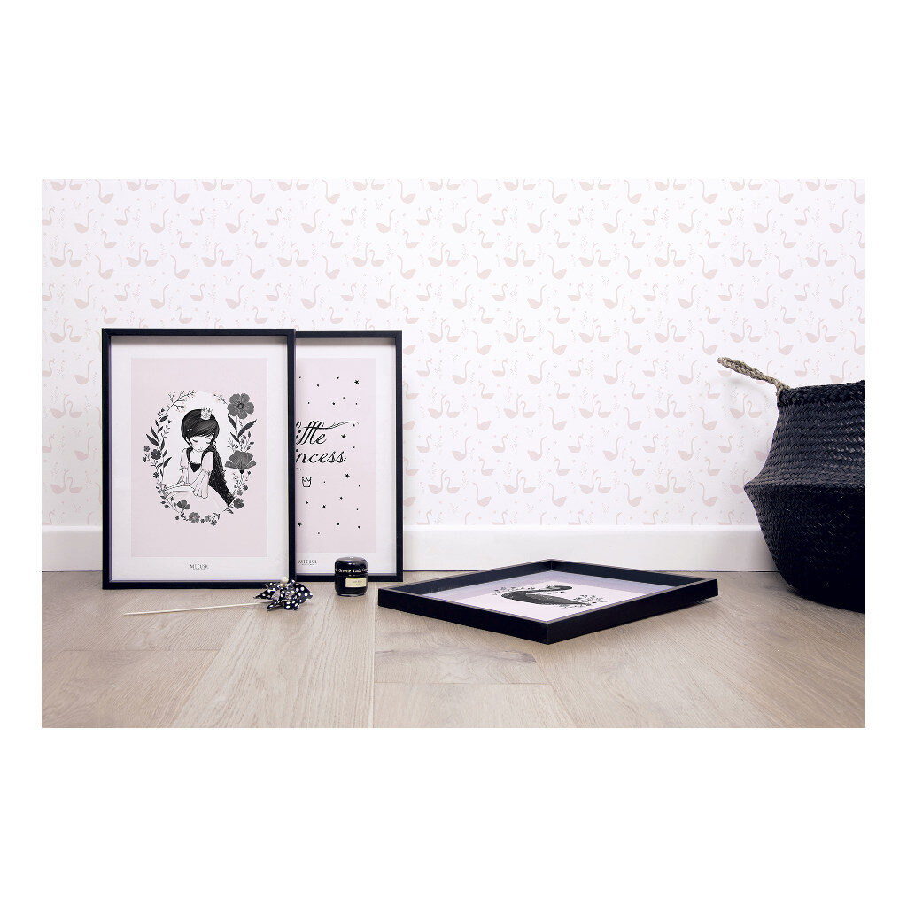 Swan Pink Behang Little Princess Lilipinso Huiskamer Kinderkamer Combineren Lili-H0338