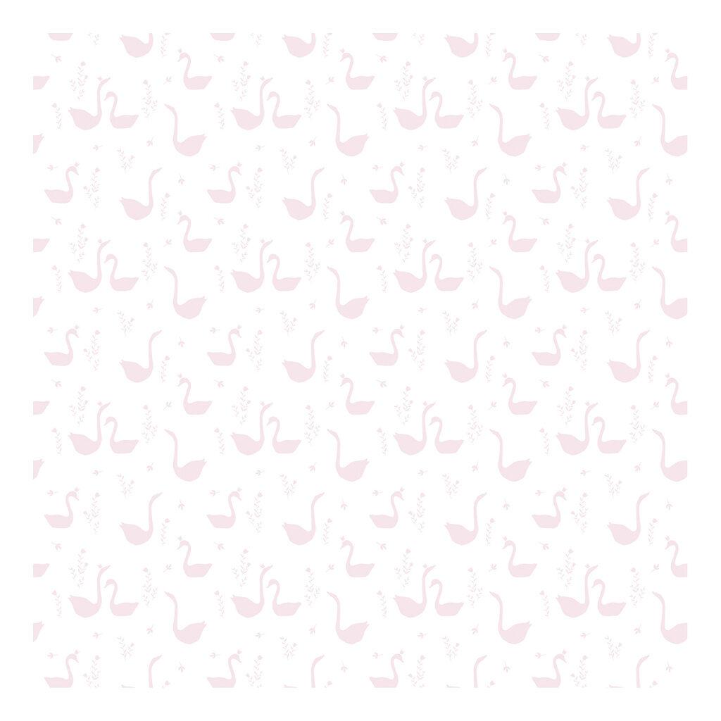 Swan Pink Behang Little Princess Lilipinso Zwanen Roze Lili-H0338