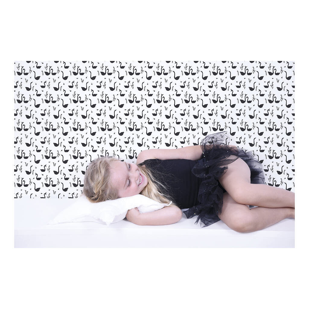 Swans Black Behang Little Princess Lilipinso Huiskamer Kinderkamer Lili-H0337