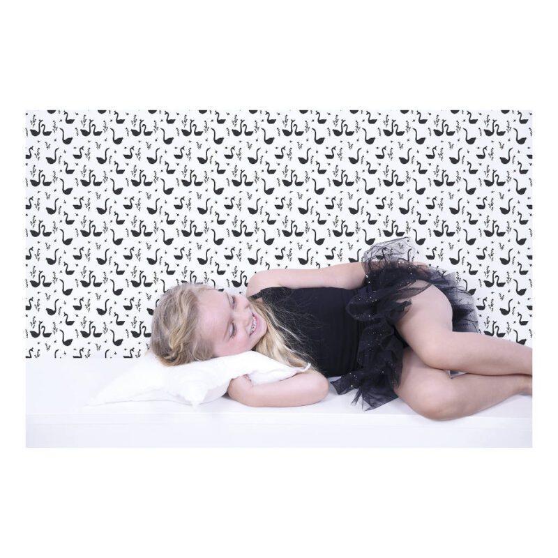 Swans Black Behang Little Princess Lilipinso Huiskamer Kinderkamer Lili-H0337